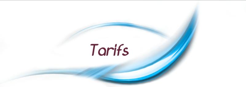 Changements de tarifs à partir du 1er février 2018